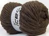 Pure Wool Superbulky Dark Brown