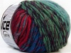Vivid Wool Turquoise Red Green Shades Fuchsia Blue Shades
