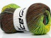 Marvelous Pure Wool Turquoise Neon Green Brown Shades