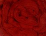 50gr-1.8m (1.76oz-1.97yards) 100% Wool felt Kuitupitoisuus 100% Villa, Brand Ice Yarns, Dark Red, acs-1107