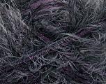 Fiber Content 57% Acrylic, 40% Polyamide, 3% Lurex, Purple, Brand Ice Yarns, Grey, Black, Yarn Thickness 5 Bulky  Chunky, Craft, Rug, fnt2-50622