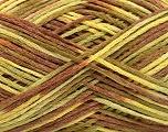 Fiber Content 50% Acrylic, 50% Cotton, Yellow, Brand Ice Yarns, Green, Brown, Yarn Thickness 2 Fine  Sport, Baby, fnt2-51117