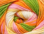 Fiber Content 100% Baby Acrylic, Yellow, White, Pink, Orange, Brand Ice Yarns, Green, Yarn Thickness 2 Fine  Sport, Baby, fnt2-29609