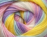 Fiber Content 100% Baby Acrylic, Yellow, White, Pink, Lilac, Brand Ice Yarns, Blue, Yarn Thickness 2 Fine  Sport, Baby, fnt2-29610