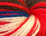 Cocktail line includes yarns that are hand-tied and made by combining different types of fancy yarns from end-to-end. Please note that the yarn is hand-tied and yarn will have knots. The yarn is also hand-dyed . 100% Wool yarn is used. Dyeing process is totally hand made with natural plants and NO chemicals were used. For this reason, please be advised that some white parts may remain. Fiber Content 100% Wool, Red, Brand Ice Yarns, Cream, Brown, Blue, Yarn Thickness 3 Light  DK, Light, Worsted, fnt2-32716