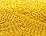 Fiber Content 94% Acrylic, 6% Lurex, Yellow, Brand Ice Yarns, Gold, Yarn Thickness 3 Light  DK, Light, Worsted, fnt2-33033