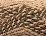 Fiber Content 65% Acrylic, 35% Wool, Rose Brown, Brand Ice Yarns, Camel, Yarn Thickness 6 SuperBulky  Bulky, Roving, fnt2-36603