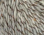 Fiber Content 50% Baby Alpaca, 22% Polyamide, 18% Viscose, 10% Merino Extrafine, Light Grey, Brand ICE, Yarn Thickness 4 Medium  Worsted, Afghan, Aran, fnt2-37523