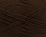 Fiber Content 100% Acrylic, Brand Ice Yarns, Dark Brown, Yarn Thickness 4 Medium  Worsted, Afghan, Aran, fnt2-39078