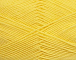 Fiber indhold 50% Polyamid, 50% Akryl, Yellow, Brand Ice Yarns, Yarn Thickness 2 Fine  Sport, Baby, fnt2-39378