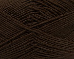 Fiber Content 100% Acrylic, Brand Ice Yarns, Dark Brown, Yarn Thickness 3 Light  DK, Light, Worsted, fnt2-39413