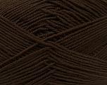 Fiber Content 100% Acrylic, Brand Ice Yarns, Dark Brown, Yarn Thickness 3 Light  DK, Light, Worsted, fnt2-39413
