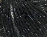 Kuitupitoisuus 57% Akryyli, 39% Villa, 3% Polymidi, 1% Metallinen Lurex, Silver, Brand Ice Yarns, Grey, Black, Yarn Thickness 4 Medium  Worsted, Afghan, Aran, fnt2-39764