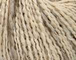 Fiber indhold 57% Akryl, 39% Uld, 3% Polyamid, 1% Metallisk Lurex, Silver, Brand Ice Yarns, Cream, Beige, Yarn Thickness 4 Medium  Worsted, Afghan, Aran, fnt2-39765