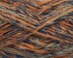 Fiber Content 43% Acrylic, 27% Polyamide, 15% Mohair, 15% Wool, Orange, Navy, Brand Ice Yarns, Blue, Beige, Yarn Thickness 5 Bulky  Chunky, Craft, Rug, fnt2-41167