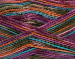 Items knitting with anti-pilling yarn are resilient against pilling and fuzz that can occur while using or washing. Since these are more durable as compare to other acrylic fibers, they wear down slower. They stay like they are at first day for a long time. Additionally, they carry less static electricity. Anti-pilling yarns are machine washable and dryable. Please see knitted samples for the color effect. Fiber Content 100% Antipilling Acrylic, Turquoise, Purple, Orange, Brand Ice Yarns, Green, Yarn Thickness 3 Light  DK, Light, Worsted, fnt2-43141