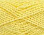 Machine washable. Lay flat to dry Fiber Content 80% Superwash Virgin Wool, 20% Acrylic, Light Yellow, Brand Ice Yarns, Yarn Thickness 4 Medium  Worsted, Afghan, Aran, fnt2-43426