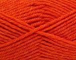 Machine washable. Lay flat to dry Fiber Content 80% Superwash Virgin Wool, 20% Acrylic, Orange, Brand Ice Yarns, Yarn Thickness 4 Medium  Worsted, Afghan, Aran, fnt2-43431