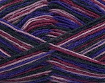 Fiber Content 75% Superwash Wool, 25% Polyamide, Purple, Lilac, Brand Ice Yarns, Burgundy, Black, Yarn Thickness 1 SuperFine  Sock, Fingering, Baby, fnt2-45333