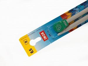 6.5 mm (US 10 1/2) Inox brand knitting needles. Length: 35 cm (14&). Size: 6.5 mm (US 10 1/2) Brand Inox, acs-111