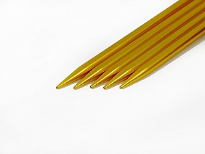 6 mm (US 10) A set of 5 double-point knitting needles. Length: 20 cm (8&). Material: Aluminum. 6 mm (US 10) Brand Ice Yarns, acs-30