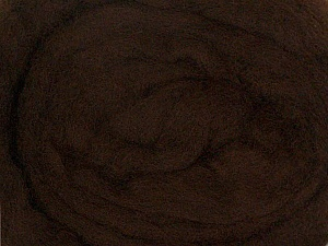 50gr-1.8m (1.76oz-1.97yards) 100% Wool felt Fiber Content 100% Wool, Yarn Thickness Other, Brand ICE, Dark Brown, acs-928