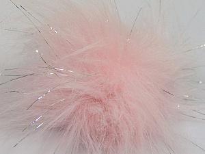 Diameter around 7cm (3&) Silver, Pink, Brand ICE, acs-1141
