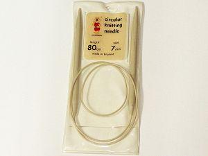 80 cm - Size: 7 mm (US 10 1/2) Brand Grignasco, acs-1289