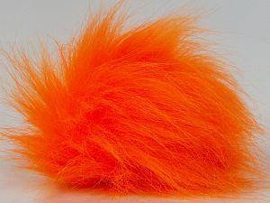 Diameter around 7cm (3&) Neon Orange, Brand Ice Yarns, acs-1311