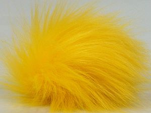 Diameter around 7cm (3&) Neon Yellow, Brand Ice Yarns, acs-1312