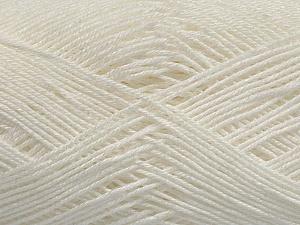 Ne: 8/4. Nm 14/4 Fiber Content 100% Mercerised Cotton, White, Brand ICE, Yarn Thickness 2 Fine  Sport, Baby, fnt2-49594
