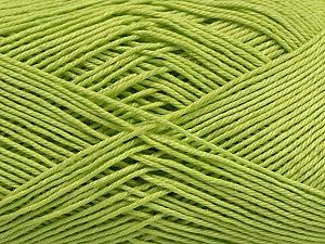 Ne: 8/4. Nm 14/4 Fiber Content 100% Mercerised Cotton, Light Green, Brand ICE, Yarn Thickness 2 Fine  Sport, Baby, fnt2-49597