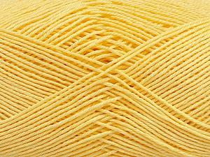 Ne: 8/4. Nm 14/4 Fiber Content 100% Mercerised Cotton, Light Yellow, Brand ICE, Yarn Thickness 2 Fine  Sport, Baby, fnt2-49602