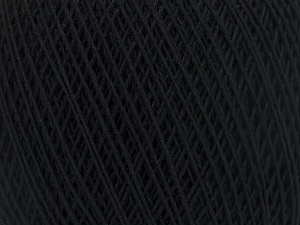 Fiber Content 67% Cotton, 33% Polyester, Brand Ice Yarns, Black, Yarn Thickness 1 SuperFine Sock, Fingering, Baby, fnt2-49690