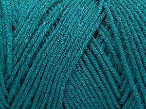 Items made with this yarn are machine washable & dryable. Fiber Content 100% Dralon Acrylic, Brand ICE, Emerald Green, Yarn Thickness 4 Medium  Worsted, Afghan, Aran, fnt2-49813