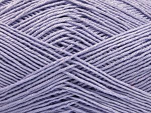 Ne: 8/4. Nm 14/4 Fiber Content 100% Mercerised Cotton, Light Lilac, Brand ICE, Yarn Thickness 2 Fine  Sport, Baby, fnt2-49849