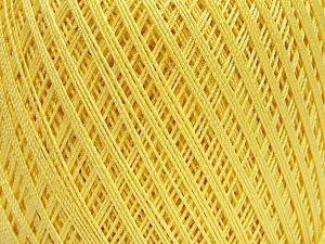 Ne: 10/3 Nm: 17/3 Fiber Content 100% Mercerised Cotton, Light Yellow, Brand Ice Yarns, Yarn Thickness 1 SuperFine Sock, Fingering, Baby, fnt2-49851