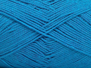 Fiber Content 100% Cotton, Turquoise, Brand ICE, Yarn Thickness 2 Fine  Sport, Baby, fnt2-50096