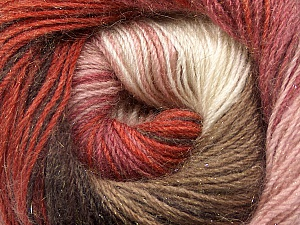 Fiber Content 57% Premium Acrylic, 3% Metallic Lurex, 20% Wool, 20% Mohair, White, Salmon, Orchid, Brand ICE, Copper, Brown, Yarn Thickness 2 Fine  Sport, Baby, fnt2-50305