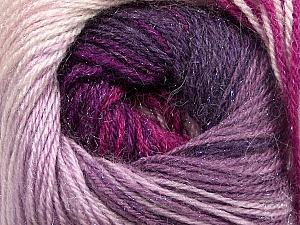 Fiber Content 57% Premium Acrylic, 3% Metallic Lurex, 20% Wool, 20% Mohair, Purple, Lilac, Lavender, Brand ICE, Fuchsia, Yarn Thickness 2 Fine  Sport, Baby, fnt2-50325