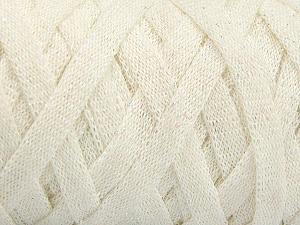 Fiber Content 70% Recycled Cotton, 30% Metallic Lurex, Brand Ice Yarns, Cream, Yarn Thickness 6 SuperBulky  Bulky, Roving, fnt2-50521