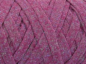 Fiber Content 70% Recycled Cotton, 30% Metallic Lurex, Purple, Brand Ice Yarns, Yarn Thickness 6 SuperBulky  Bulky, Roving, fnt2-50526