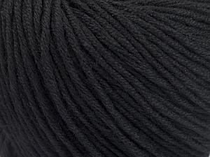 Fiber Content 60% Bamboo, 40% Cotton, Brand ICE, Black, Yarn Thickness 3 Light  DK, Light, Worsted, fnt2-50532
