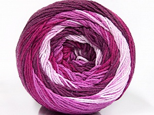 Fiber Content 100% Cotton, Pink Shades, Maroon, Lilac, Brand ICE, Yarn Thickness 3 Light  DK, Light, Worsted, fnt2-50557