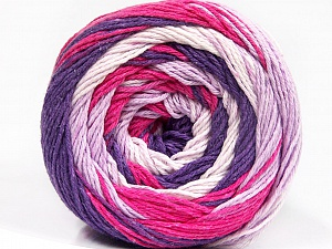 Fiber Content 100% Cotton, White, Purple, Lilac, Brand ICE, Fuchsia, Yarn Thickness 3 Light  DK, Light, Worsted, fnt2-50561
