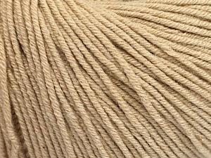 Fiber Content 60% Cotton, 40% Acrylic, Brand ICE, Beige, Yarn Thickness 2 Fine  Sport, Baby, fnt2-51206