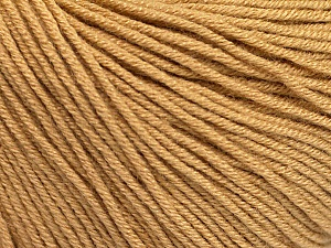 Fiber Content 60% Cotton, 40% Acrylic, Light Brown, Brand ICE, Yarn Thickness 2 Fine  Sport, Baby, fnt2-51219