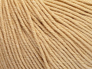 Fiber Content 60% Cotton, 40% Acrylic, Brand ICE, Dark Cream, Yarn Thickness 2 Fine  Sport, Baby, fnt2-51220