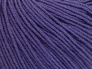 Fiber Content 60% Cotton, 40% Acrylic, Purple, Brand ICE, Yarn Thickness 2 Fine  Sport, Baby, fnt2-51240