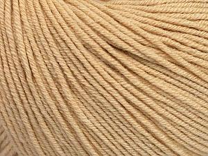 Fiber Content 60% Cotton, 40% Acrylic, Brand ICE, Dark Cream, Yarn Thickness 2 Fine  Sport, Baby, fnt2-51247